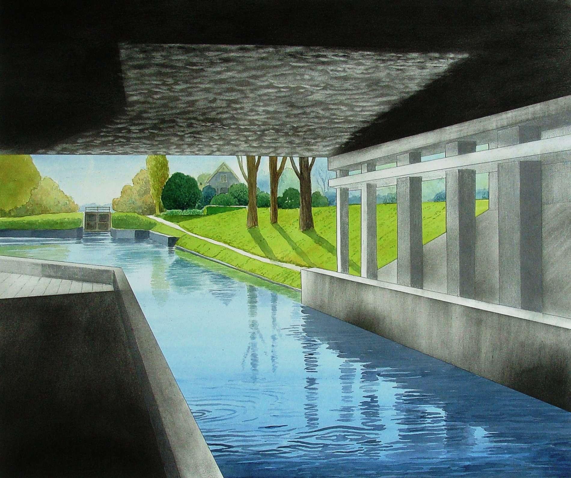 Onder het viaduct